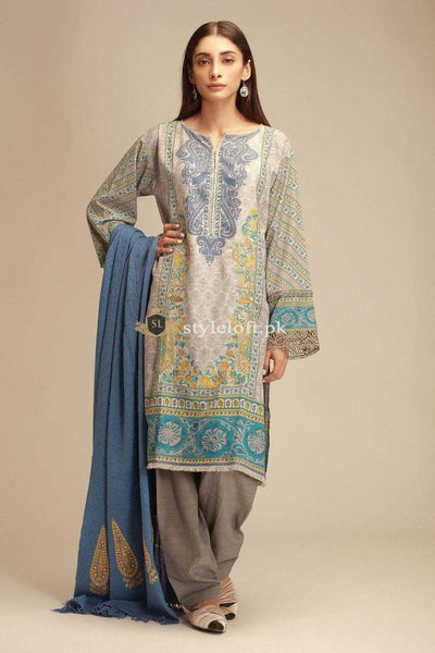 Khaadi Embroidered Lawn Unstitched 3Pc Suit KF18404