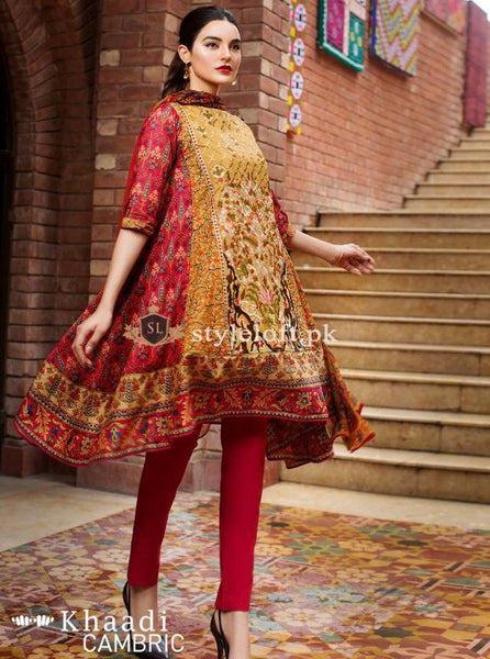 Khaadi Lawn Collection 2019 3Pc Embroidered KH-1809A