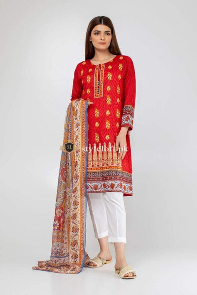 STYLE LOFT.PK Khaadi Lawn Collection 2019 Summer 3Piece Suit KH19108-Red