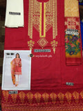 Khaadi Spring Summer 2019 3pc Lawn Suit KDE-19701 Red
