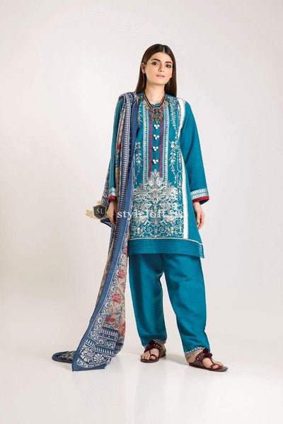 STYLE LOFT.PK Khaadi Unstitched Winter Vibe Collection 2019 - KO19502-Blue