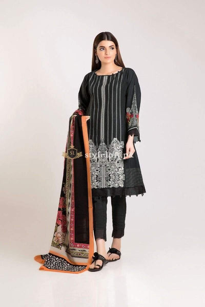 STYLE LOFT.PK Khaadi Unstitched Winter Vibe Collection 2019 - KO19504-Black