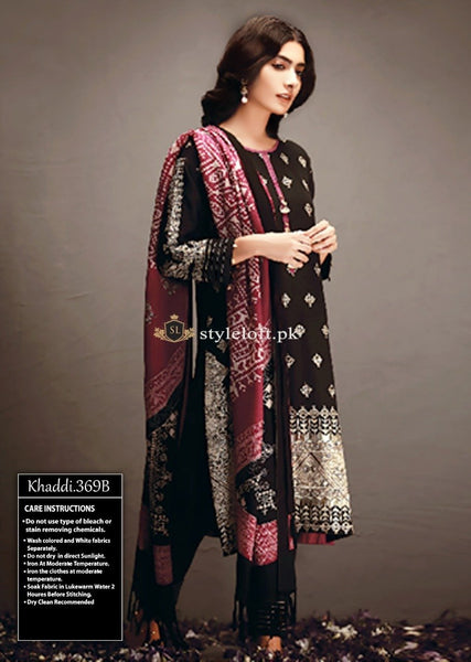 Khaadi Winter 2018 3Piece KH-18404 Black