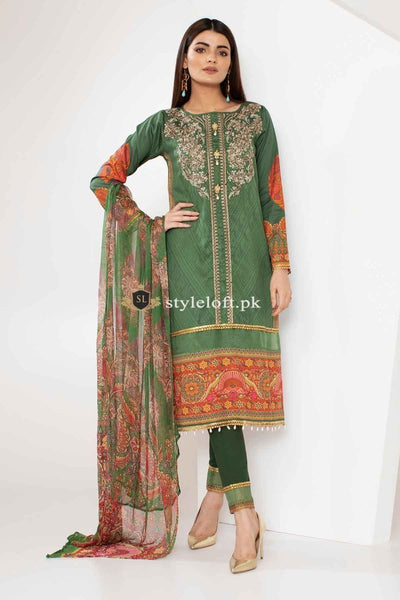 Khaadi Winter 3Pc E18305-Green
