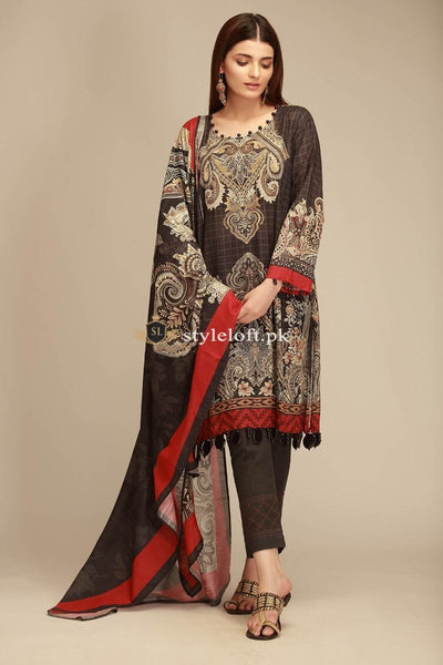 Khaadi Winter Collection-2018 vol.1 KH-18403 Black
