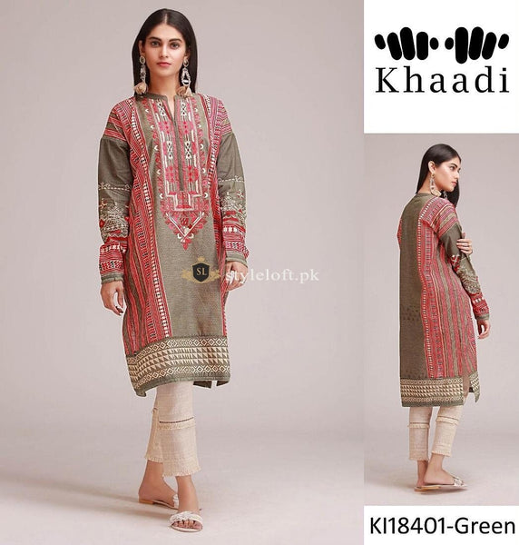 Khaadi Winter Collection 3Piece KI-18401-Green