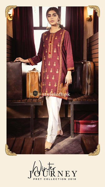 ef42395c492 ... Khaadi Winter Pret Collection 2018 KH-1802 ...