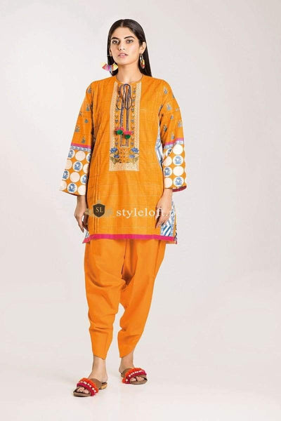 STYLE LOFT.PK Khaadi Winter Vibe Collection 2019 – CI19502 Yellow 3Pc Suit