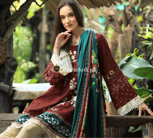 Lakhani LSM Flowery Winter Collection 3Piece FF-01