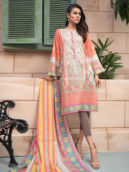 STYLE LOFT.PK LimeLight Linen Collection 2019 Volume 2 Unstitch Suit UO1389