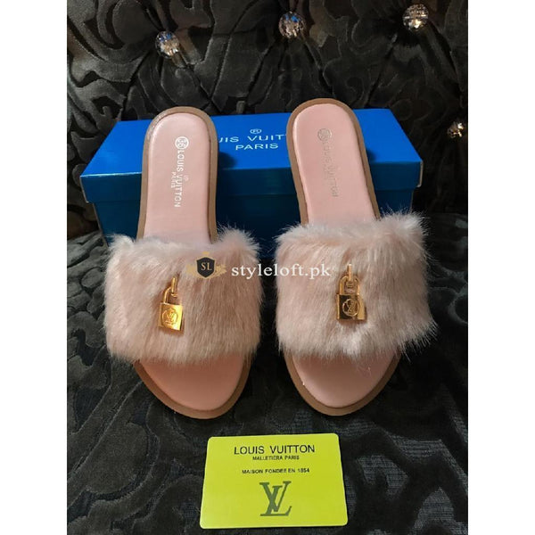 Louis Vuitton Women's Open Told Footbed Slide-Peach