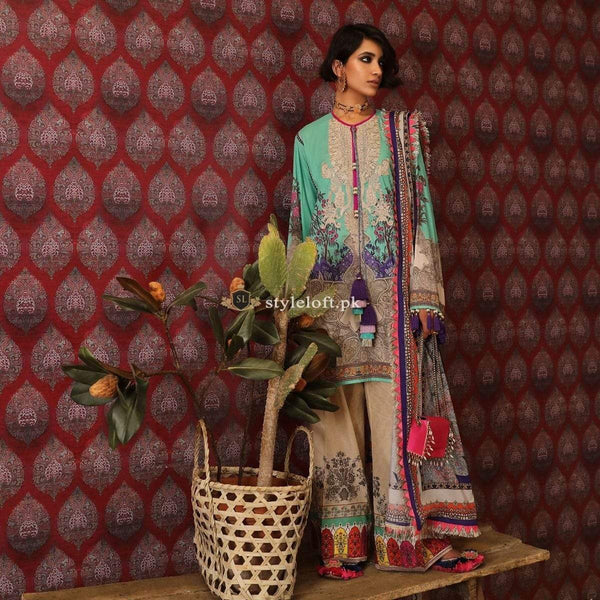 STYLE LOFT.PK Mahay'19 Unstitched Collection by Sana Safinaz 3 Piece Linen Suit SS-1902B
