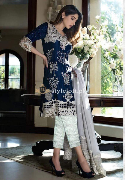 STYLE LOFT.PK Mahiymaan Lawn 3Piece Suit with Chiffon Embroidered Dupatta MHM-L1901