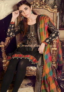 STYLE LOFT.PK Maria.B Best Seller Lawn Collection - Black Embroidered 3Pc Dress