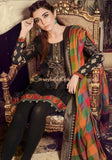 Maria.B Best Seller Lawn Collection - Black Embroidered 3Pc Dress