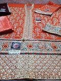 STYLE LOFT.PK Maria B Chiffon Collection Unstitched 3PC Suit MB-1905 Rust
