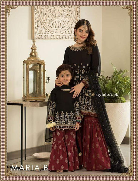 STYLE LOFT.PK Maria B Chiffon Kids Collection 2019 Unstitched 3 Piece Suit DW-2197