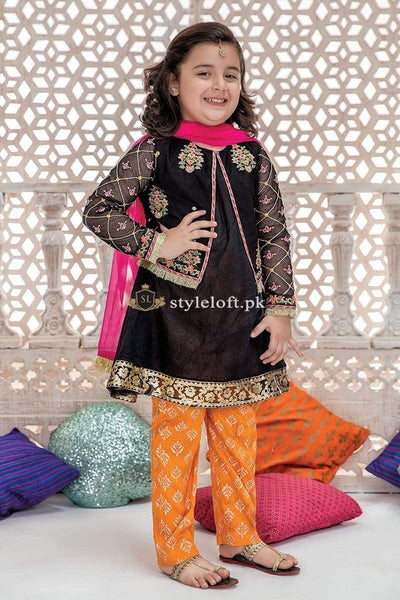 STYLE LOFT.PK Maria B Chiffon Kids Collection MKD-193 Unstitched 3Pc Dress
