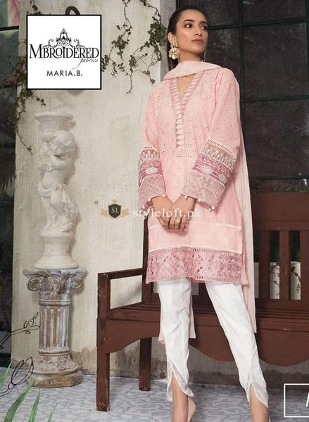 STYLE LOFT.PK Maria B Embroidered Chickenkari Lawn Unstitched 3 Piece Suit DW-2160B
