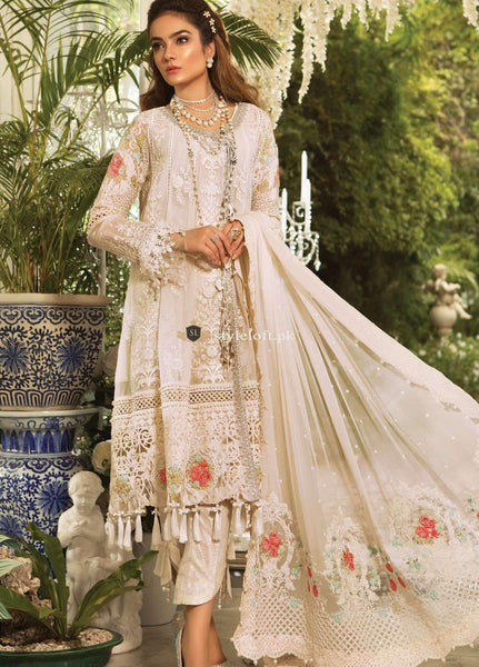 cc256681b6 PK Maria B Embroidered Chiffon Unstitched 3 Piece Suit MB19E 1604 - Eid ...