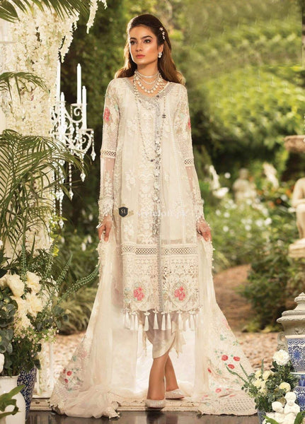 9863055c79c PK Maria B Embroidered Chiffon Unstitched 3 Piece Suit MB19E 1604 - Eid ...