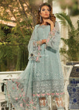 STYLE LOFT.PK Maria B Embroidered Chiffon Unstitched 3 Piece Suit MB19E 1607 - Eid Collection