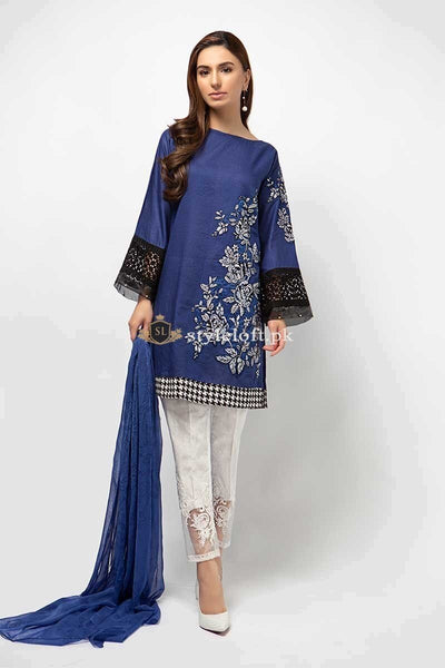 Maria.B Embroidered Lawn Collection 2Pc Suit dw-2184-blue