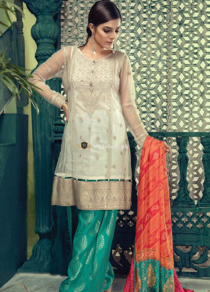 Maria.B Embroidered Lawn Collection 3Pc Suit ML-18-07