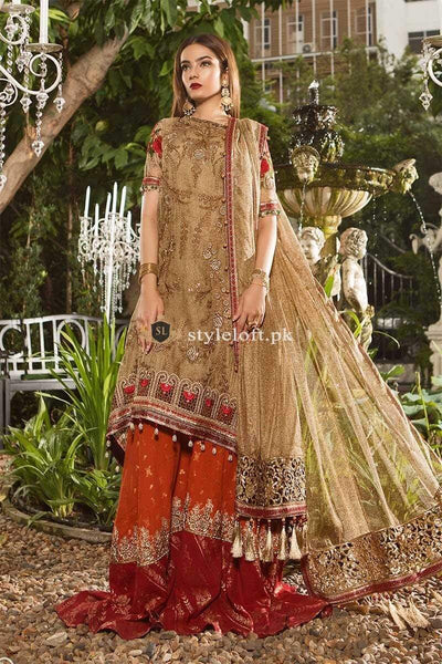 STYLE LOFT.PK Maria B Embroidered Lawn Replica Unstitched 3 Piece Suit MB19E 1606 - Eid Collection