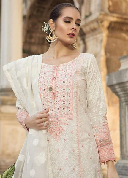 STYLE LOFT.PK Maria B Embroidered Lawn Unstitched 3 Piece Suit MB19L 01A - Spring / Summer Collection