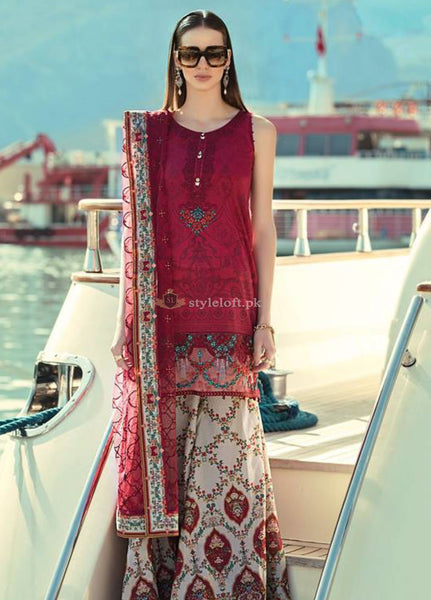 675c11320b ... Maria B Embroidered Lawn Unstitched 3 Piece Suit MB19L 15B - Spring / Summer  Collection ...