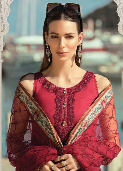 STYLE LOFT.PK Maria B Embroidered Lawn Unstitched 3 Piece Suit MB19L 15B - Spring  Summer Collection