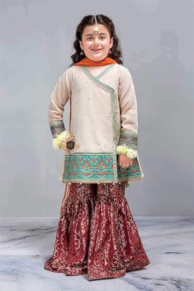 STYLE LOFT.PK Maria B Kids Chiffon Collection 2019 Unstitched 3Pc Dress MKS-221