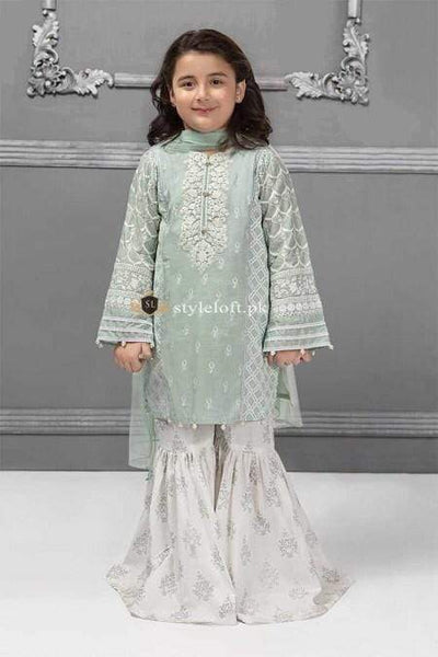 STYLE LOFT.PK Maria B Kids Collection Lawn Embroidered Two Piece Suits MKD-229