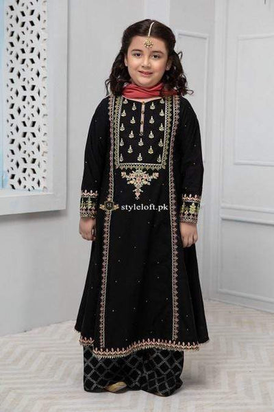 STYLE LOFT.PK Maria B Kids Collection Linen Embroidered Two Piece Suits MKD-115