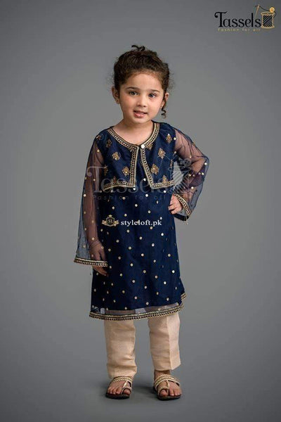 STYLE LOFT.PK Maria B Kids Collection Linen Embroidered Two Piece Suits MKD-116