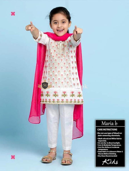 STYLE LOFT.PK Maria.B Kids Eid Collection Unstitched 3Piece Suit MKD-01