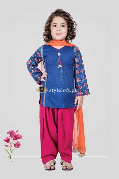 Maria.B Kids Formal Collection 3Piece MKD-218 Blue