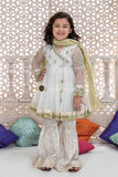 Maria.B Kids Formal Collection 3Piece-White Gold