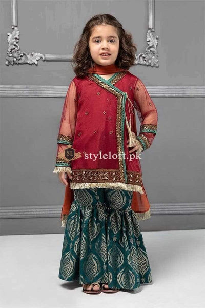STYLE LOFT.PK Maria B Kids Formal Eid Collection 2019 MKS-215 Unstitched 3Pc Dress