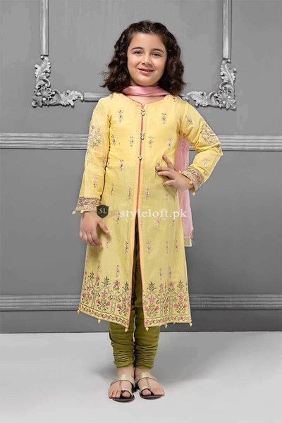 STYLE LOFT.PK Maria B Kids Lawn Collection 2019 MKS-1908 Unstitched 3Pc Dress