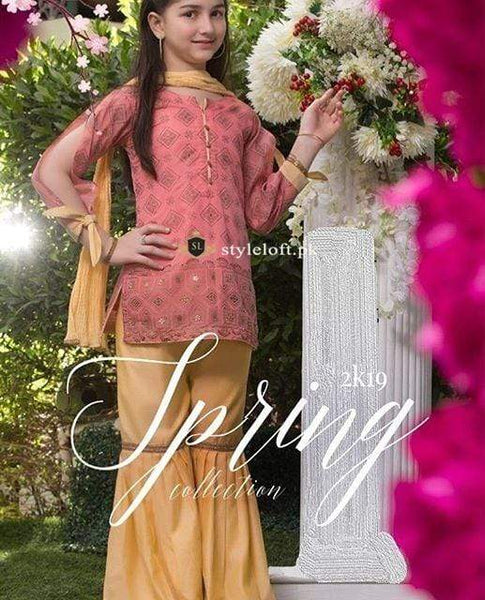 STYLE LOFT.PK Maria.B Kids Lawn Collection 2019 Unstitched 2Pc Suit MKD-19
