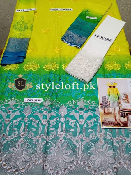 STYLE LOFT.PK Maria B Lawn Collection 2020 Chikankari Unstitched 3 Piece Suit 3 PIECE