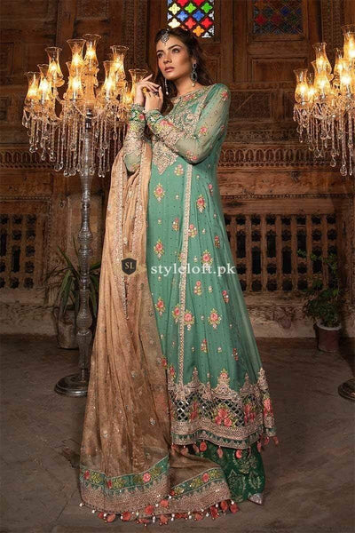 STYLE LOFT.PK Maria.B Mbroidered Chiffon Collection Unstitched 3 Piece Suit BD-14