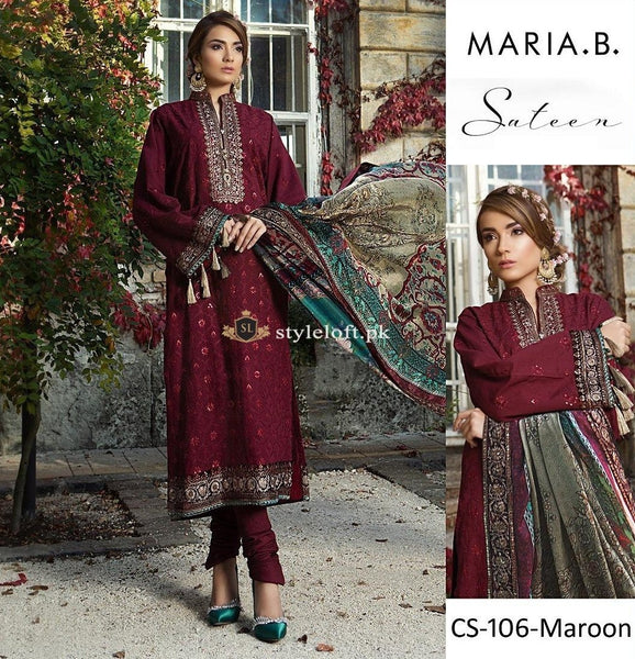 Maria.B Sateen Winter Collection 2018 CS-106-Maroon