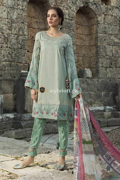STYLE LOFT.PK Maria B Summer Lawn Collection 2019 3Piece Suit D-1911-B