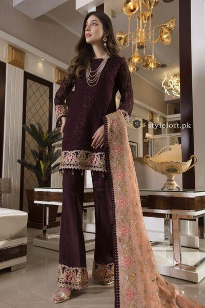 Maryam & Maria Freesia Embroidered Lawn Unstitched 3Pc Suit - SERAPHIN (FMM-407)