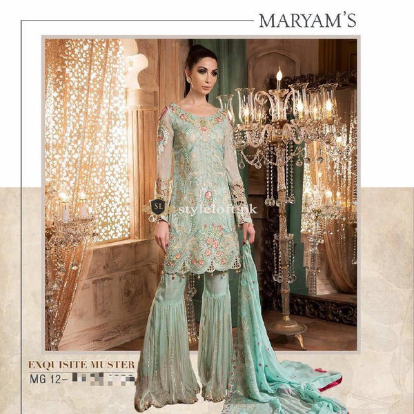 Maryam's Pure Chiffon 3Piece MM-1016