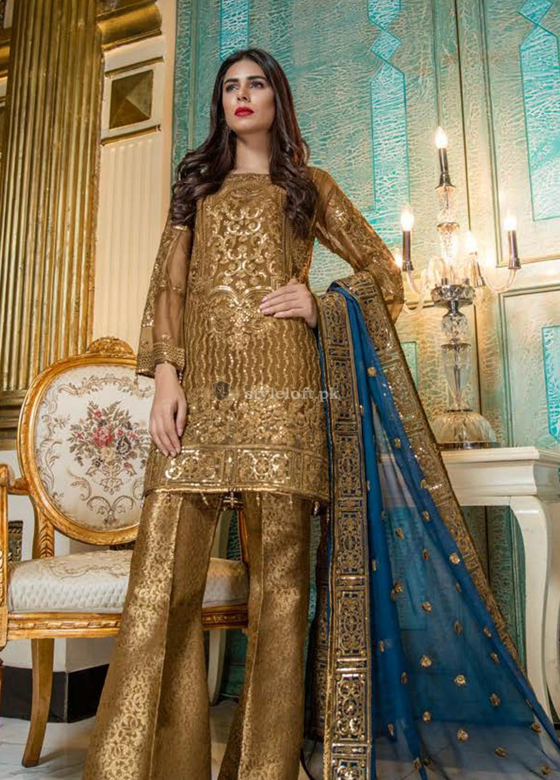 999cb119c3 Maryum n Maria Embroidered Chiffon Collection Unstitched 3 Piece Suit  MNM18-C2 206