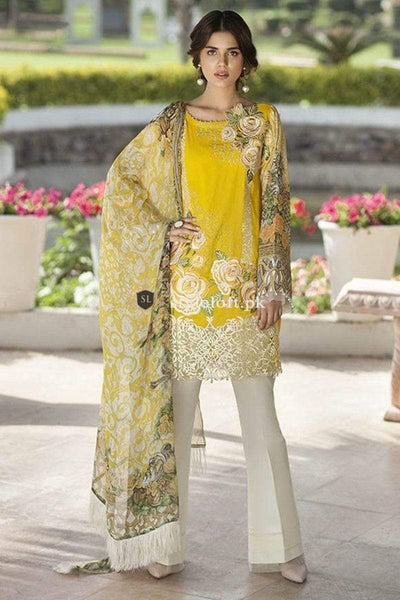 STYLE LOFT.PK Mausummery Summer Lawn Collection 2019 Unstitched 3Piece Suit MM-1